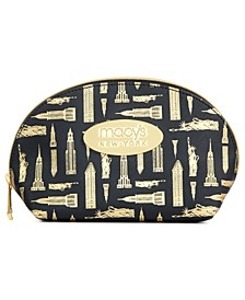 Printed Faux-Leather Large Cosmetic Bag, Created for Macy's