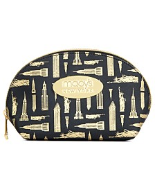 Macy's Printed Faux-Leather Large Cosmetic Bag, Created for Macy's