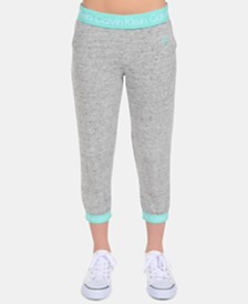 Calvin Klein Performance Big Girls French Terry Capri Sweatpants