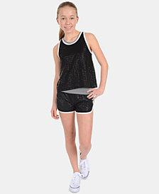 Calvin Klein Big Girls Logo-Print Dolphin-Hem Shorts