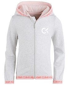 Calvin Klein Performance Big Girls Zip-Up Logo Hoodie