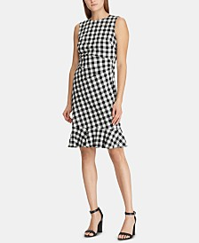 Lauren Ralph Lauren Petite Gingham Jacquard Dress