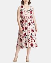 ad341dcc25 Lauren Ralph Lauren Plus Size Floral-Print Midi Dress