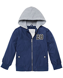 Carter's Toddler & Little Boys Layered-Look Hooded Varsity Jacket