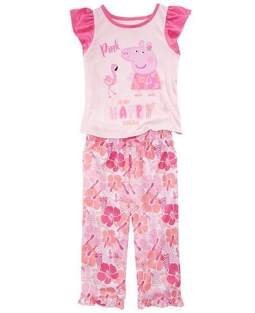 Care Bears Peppa Pig Toddler Girls 2-Pc. Pajama Set