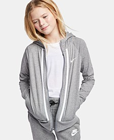 Big Girls Sportswear Full-Zip Cotton Hoodie