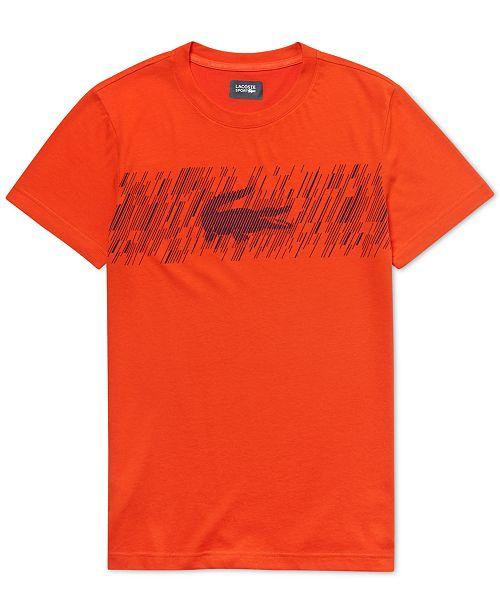 Lacoste Men's Brushed Croc-Print Graphic T-Shirt