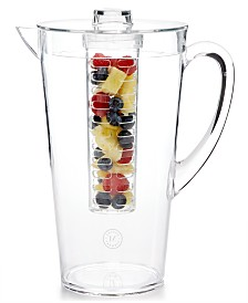 Martha Stewart Collection Acrylic Pitcher with Infuser, Created for Macy's