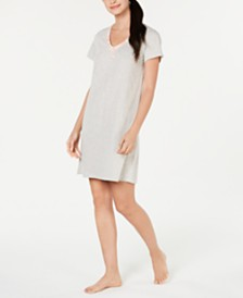 Charter Club Short-Sleeve Cotton Knit Sleepshirt, Created for Macy's