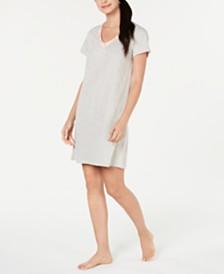 Charter Club Short-Sleeve Cotton Knit Sleepshirt, Created for Macy's
