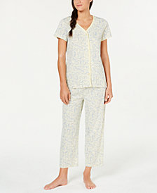Charter Club Cotton Soft Knit Pajama Set, Created for Macy's