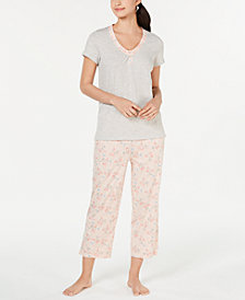 Charter Club Cotton Knit Pajama Set, Created for Macy's