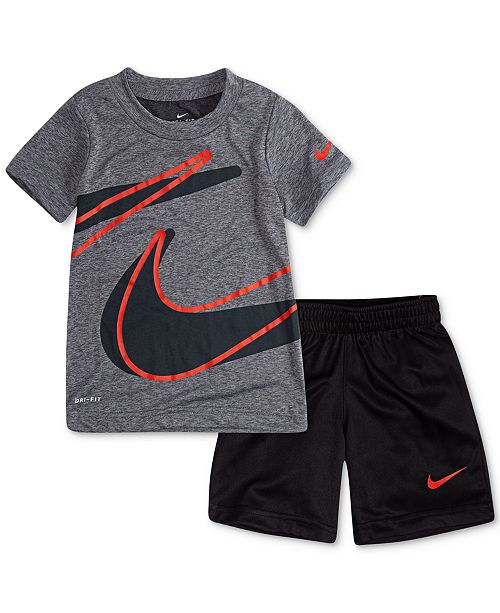 8dc254743 Nike Little Boys 2-Pc. Dropset T-Shirt & Shorts Set & Reviews - Sets ...