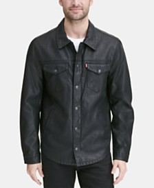 Levi's® Men's Faux Leather Shirt Jacket