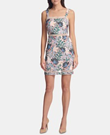 GUESS Floral Shadow Bodycon Dress