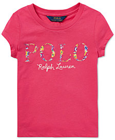 Polo Ralph Lauren Toddler Girls Floral-Logo Cotton T-Shirt