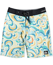 "Quiksilver Boys Highline Voodoo Stretch Abstract-Print 18"" Board Shorts"