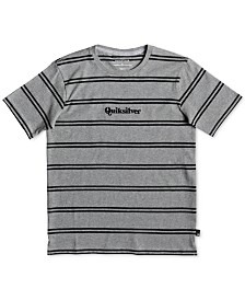 Quiksilver Boys Wet Spark Stripe Embroidered Logo T-Shirt
