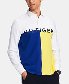 Tommy Hilfiger Men's James Regular-Fit Colorblocked Logo Rugby Polo