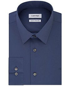 Men's Classic/Regular-Fit Stretch Flex Collar Solid Dress Shirt