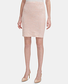 Calvin Klein Jacquard-Knit Pencil Skirt
