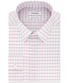 Calvin Klein Men's Slim-Fit Stretch Collar Check Dress Shirt