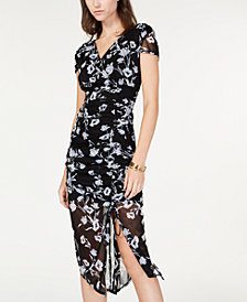 I.N.C. Ruched Flutter-Sleeve Dress, Created for Macy's