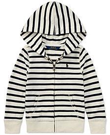 Polo Ralph Lauren Toddler Girls Striped Full-Zip Hoodie