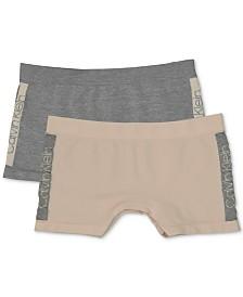 Calvin Klein Little & Big Girls 2-Pack Seamless Shorts