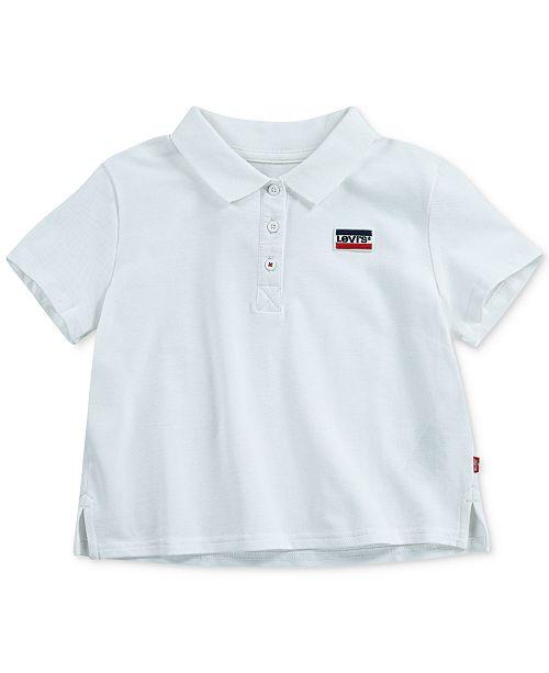 Levi's Big Girls Cropped Cotton Polo Shirt