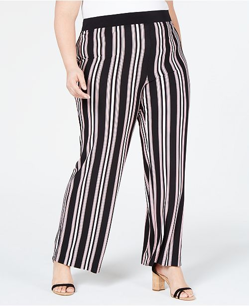 d1699937162c5c ... INC International Concepts I.N.C. Plus Size Striped Soft Pants, Created  for Macy's ...