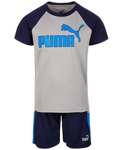 Puma Toddler Boys 2-Pc. Logo-Print T-Shirt & Shorts Set
