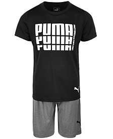 Puma Toddler Boys 2-Pc. Logo-Print T-Shirt & Shorts Set