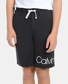 Calvin Klein Big Boys Signature Logo Volley Swimsuit