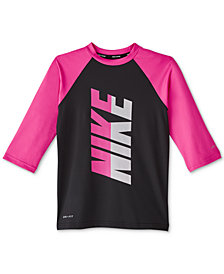 Nike Big Girls Rift 3/4-Sleeve Rash Guard