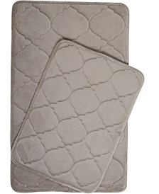 Home Dynamix Christian Siriano Spa Retreat 2-Piece Memory Foam Microfiber Bath Mat Set