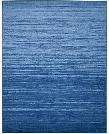 Adirondack Light Blue and Dark Blue 8' x 10' Area Rug