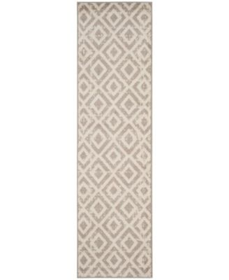 """Amsterdam Ivory and Mauve 2'3"""" x 8' Runner Area Rug"""
