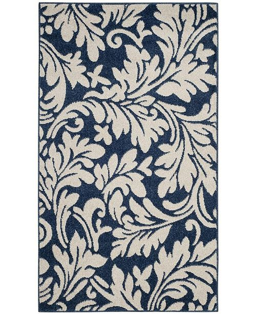 Safavieh Amherst Navy and Ivory 3' x 5' Area Rug