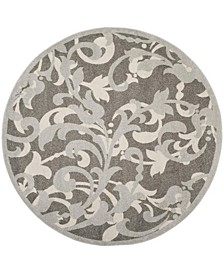 Amherst Gray and Light Gray 7' x 7' Round Area Rug