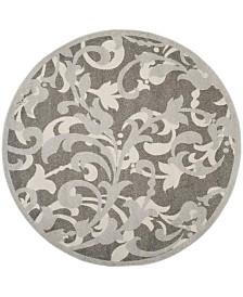 Safavieh Amherst Gray and Light Gray 7' x 7' Round Area Rug