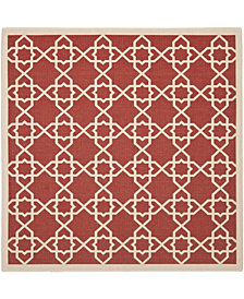 """Safavieh Courtyard Red and Beige 6'7"""" x 6'7"""" Square Area Rug"""
