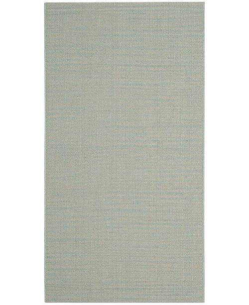 "Safavieh Courtyard Aqua and Cream 2'7"" x 5' Sisal Weave Area Rug"