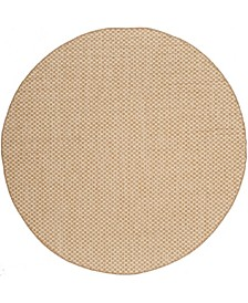 """Courtyard Natural and Cream 6'7"""" x 6'7"""" Sisal Weave Round Area Rug"""