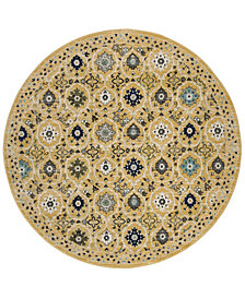 "Safavieh Evoke Gold and Ivory 6'7"" x 6'7"" Round Area Rug"