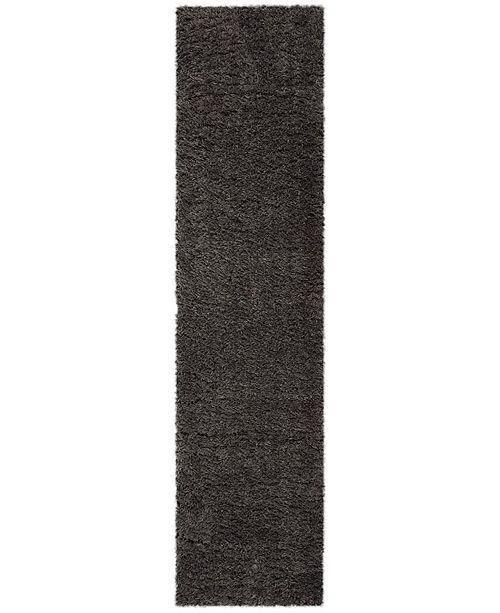 Safavieh Flokati Charcoal 2' x 8' Runner Area Rug