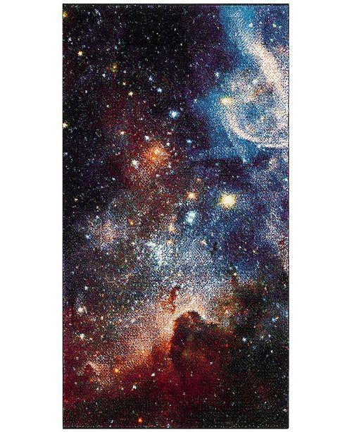 "Safavieh Galaxy Purple and Multi 2'7"" x 5' Area Rug"