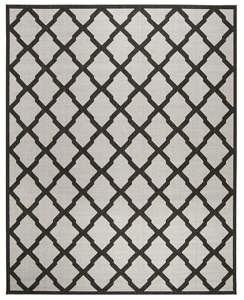 Safavieh Linden Light Gray and Charcoal 8' x 10' Area Rug
