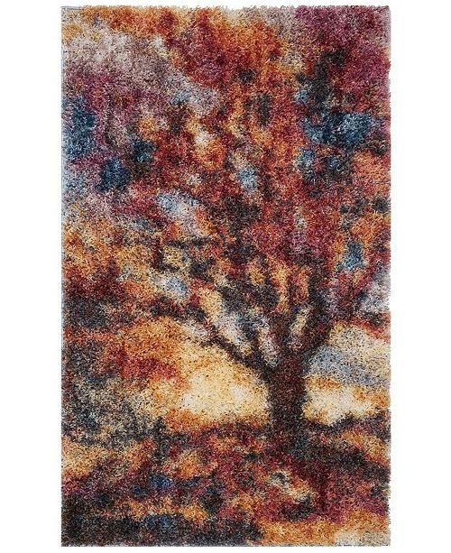 Safavieh Gypsy Rust and Blue 3' x 5' Area Rug