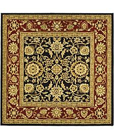 Safavieh Lyndhurst Black and Red 6' x 6' Square Area Rug